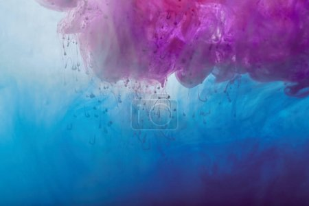 Photo for Abstract texture with purple and blue mixing paint swirls - Royalty Free Image