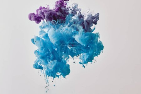 background with purple and blue splash of paint