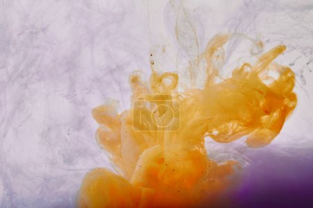 abstract background with orange and purple paint swirls