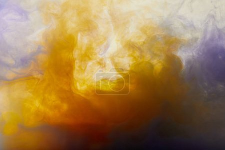 Photo for Abstract texture with orange paint swirls - Royalty Free Image