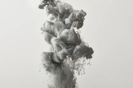 abstract monochrome background with grey paint splash
