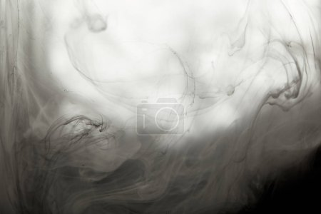 Photo for Abstract smoky texture with black paint swirls - Royalty Free Image