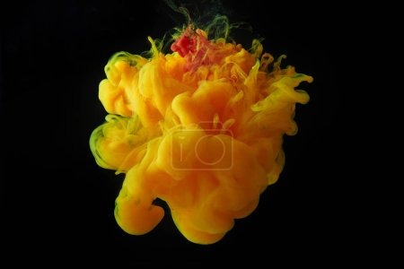 Photo for Abstract design with orange splash of paint - Royalty Free Image