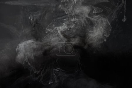 abstract black texture with grey paint swirls