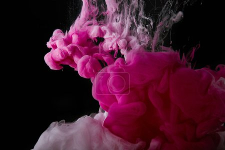 abstract background with pink splash of paint