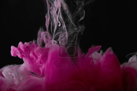 black background with pink splash of paint