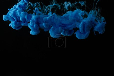 Photo for Background with abstract blue swirls of paint - Royalty Free Image