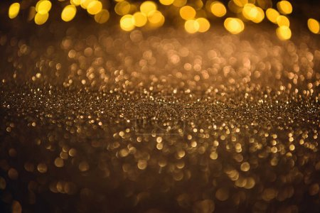 selective focus of blurred sparkling lights and bokeh