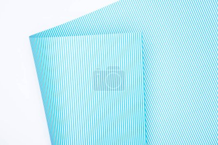 Photo for Elevated view of striped paper isolated on white - Royalty Free Image