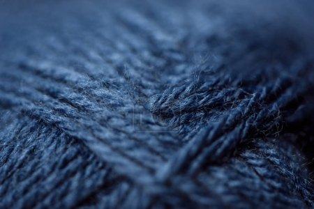Foto de Marco completo de la textura del hilo azul como fondo - Imagen libre de derechos