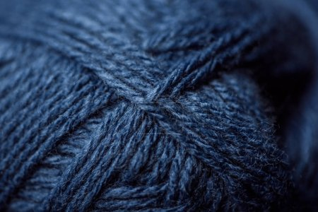 Photo for Full frame of blue yarn texture as background - Royalty Free Image