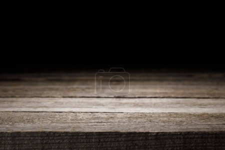 grey striped wooden background on black