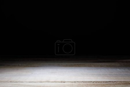 light brown striped wooden background on black