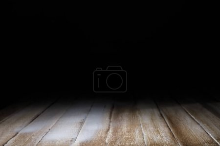brown striped wooden background on black