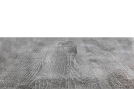 Photo pour Fond en bois grungy gris sur blanc - image libre de droit