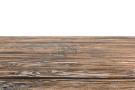 brown striped wooden board on white