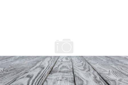 Foto de Enfoque selectivo de fondo madera rayas gris sobre blanco - Imagen libre de derechos