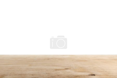 Photo for Light brown wooden background on white - Royalty Free Image