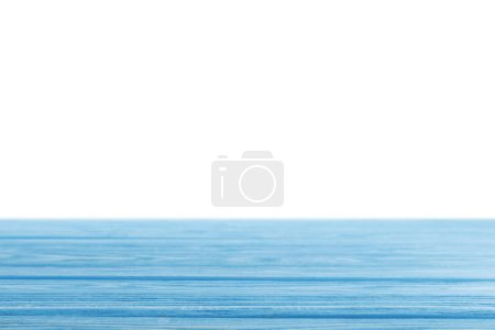 Photo for Blue striped wooden background on white - Royalty Free Image