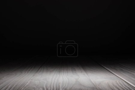 Photo for Light grey striped wooden background on black - Royalty Free Image