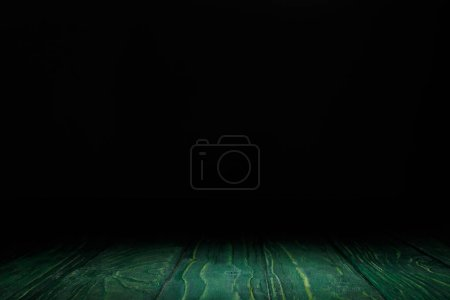 dark green striped wooden background on black