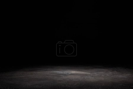 Photo for Dark grey wooden background on black - Royalty Free Image