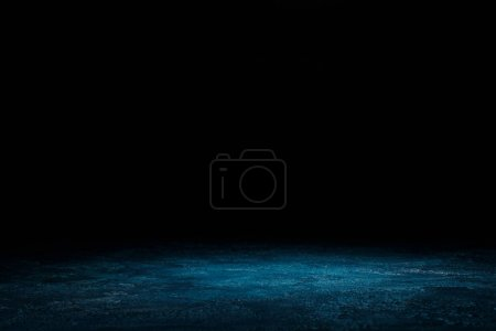 Photo for Dark blue shabby wooden background on black - Royalty Free Image
