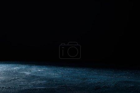 Photo for Dark blue shabby grungy background on black - Royalty Free Image