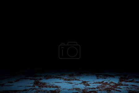 Photo for Dark blue grungy background on black - Royalty Free Image
