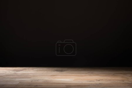 brown striped textured wooden background on black