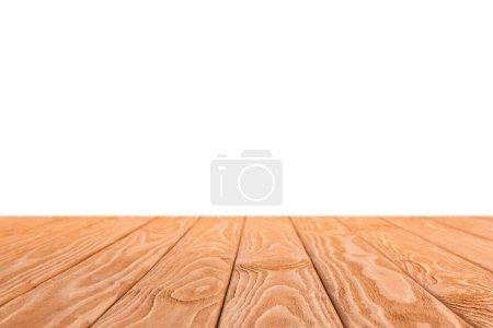 Photo pour Fond en bois rayé orange sur blanc - image libre de droit