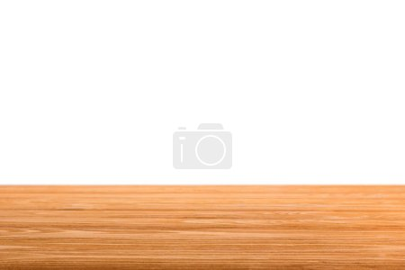 orange striped wooden surface on white
