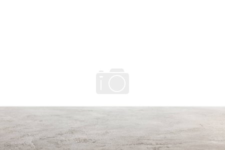 Photo for Grey shabby wooden surface on white - Royalty Free Image