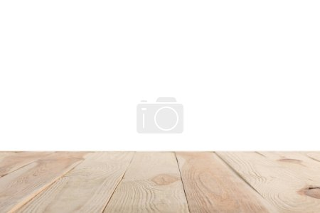 Photo for Brown striped wooden textured background on white - Royalty Free Image