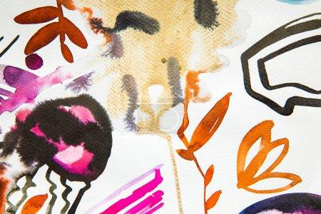 Photo pour Vue de dessus des abstrait multicolor photo aquarelle - image libre de droit