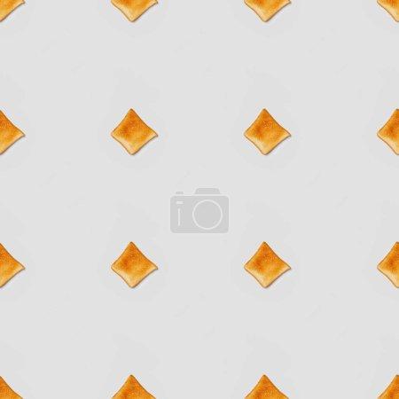 Photo pour Collage des toasts sur fond gris, motif de fond transparente - image libre de droit