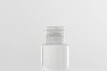 Photo for Cosmetic bottle with tonic on white background with copy space - Royalty Free Image