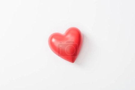 Photo for Top view of toy heart on grey background - Royalty Free Image