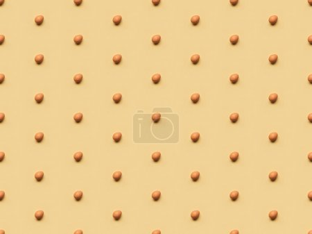 Photo for Organic brown eggs on yellow background, seamless pattern - Royalty Free Image
