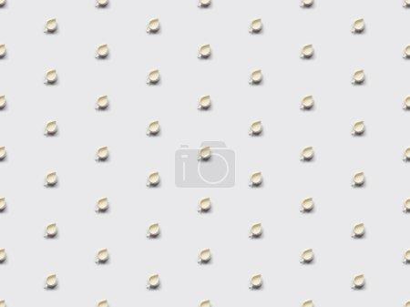 Foto de Collage de la leche en tarros en fondo gris, de patrones sin fisuras - Imagen libre de derechos