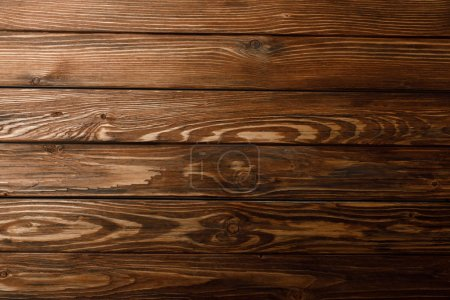 Photo for Top view of brown textured wooden background - Royalty Free Image
