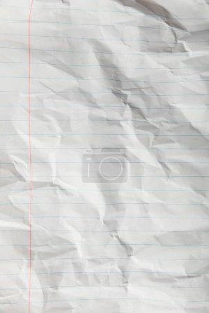 Foto de Vista superior de blanco forrado página arrugado - Imagen libre de derechos