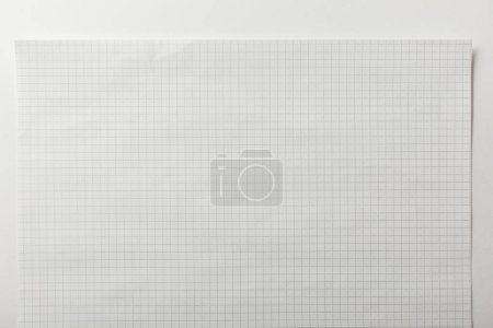 Photo for Top view of blank squared page on white background - Royalty Free Image