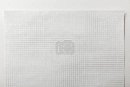 Foto de Vista superior de la página cuadrada en blanco sobre fondo blanco - Imagen libre de derechos