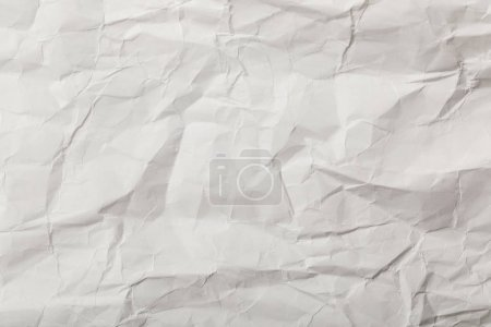Photo for White blank crumpled page with copy space - Royalty Free Image