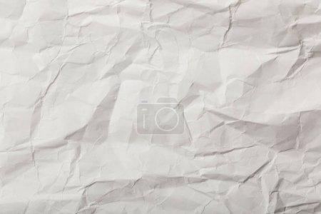 Photo pour Page blanche froissée avec espace de copie - image libre de droit
