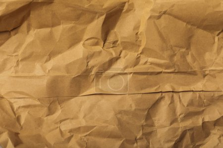 Photo for Brown blank crumpled page with copy space - Royalty Free Image