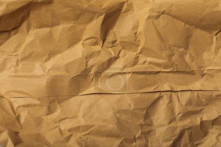Foto de Página marrón de arrugado en blanco con espacio de copia - Imagen libre de derechos
