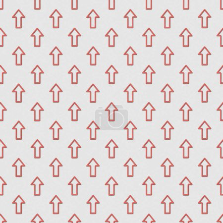 collage of red arrows on grey background, seamless background pattern