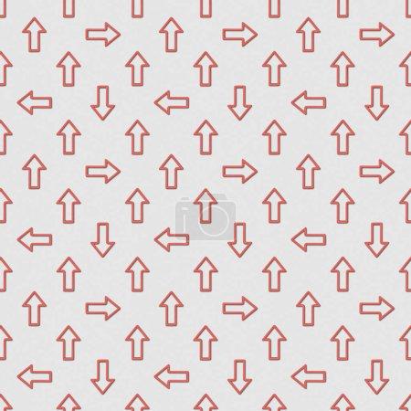 Photo pour Collage de motif d'arrière-plan sans couture avec des pointeurs rouges sur fond gris - image libre de droit